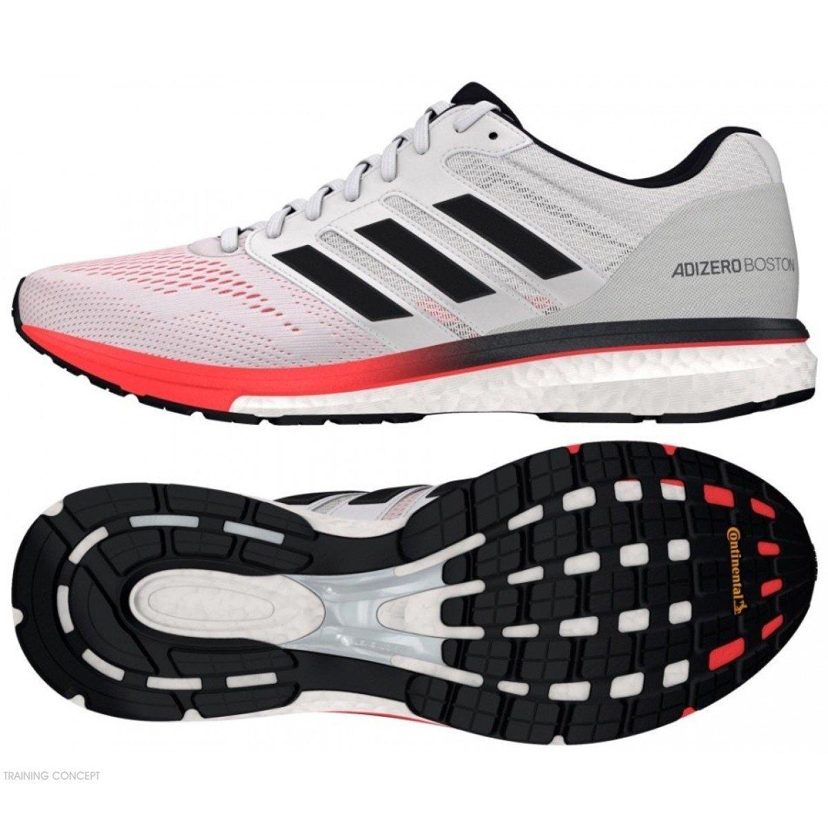 new concept 98b7c 80092 chaussures de running pour hommes adidas adizero boston 7 b37381 white   carbon  shock red