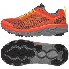 chaussures de running route et chemin pour hommes hoka challenger atr 5 1104093nfgr nasturtium / frost gray