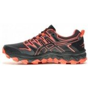 chaussure de trail running asics gel fuji trabuco 7 1012a180-001 black / flash coral