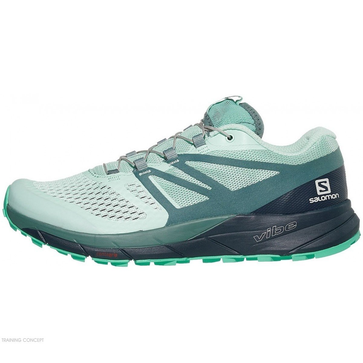 wholesale dealer 61d5e fee06 chaussures de trail running pour femmes salomon sense ride 2 406776 icy morn    navy blazer   electric green