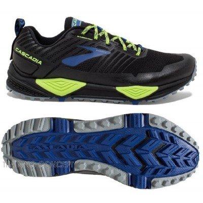 Chaussure de trail running Brooks Cascadia 13 homme 1102851d004 black / nightlife / blue