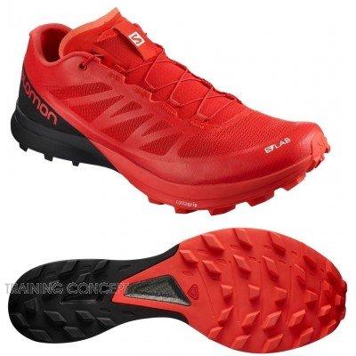 Salomon Chaussures de Trail SLAB SENSE 7 SG RED WHITE
