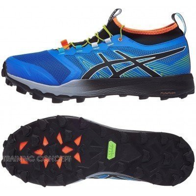chaussure de trail running pour hommes asics gel fuji trabuco 7 1011a197 stone grey black