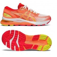 chaussure de running pour femmes asics gel nimbus 21 1012A-100