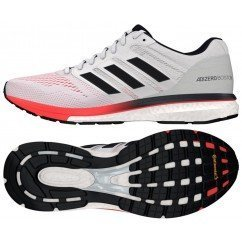 chaussures de running pour hommes adidas adizero boston 7 b37381 white / carbon / shock red