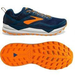 Brooks Cascadia 14 1103101d489 poseidon/orange/grey