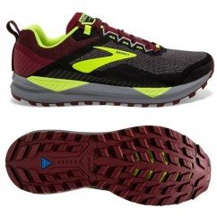 Chaussure de trail running Brooks Cascadia 14 hommes 1103101d031 black red nightlife