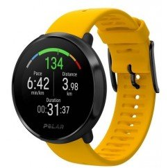 montre cardiofrequencemetre polar ignite yellow black 90075950
