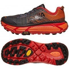chaussure de trail running hoka evo mafate 1105591BPRD BLACK / RED