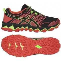 chaussure de trail running asics gel fuji trabuco 7 1011a197 600 red snapper / black